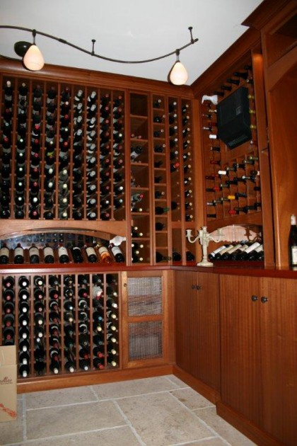 Maple Wine Cellar Natural FInish